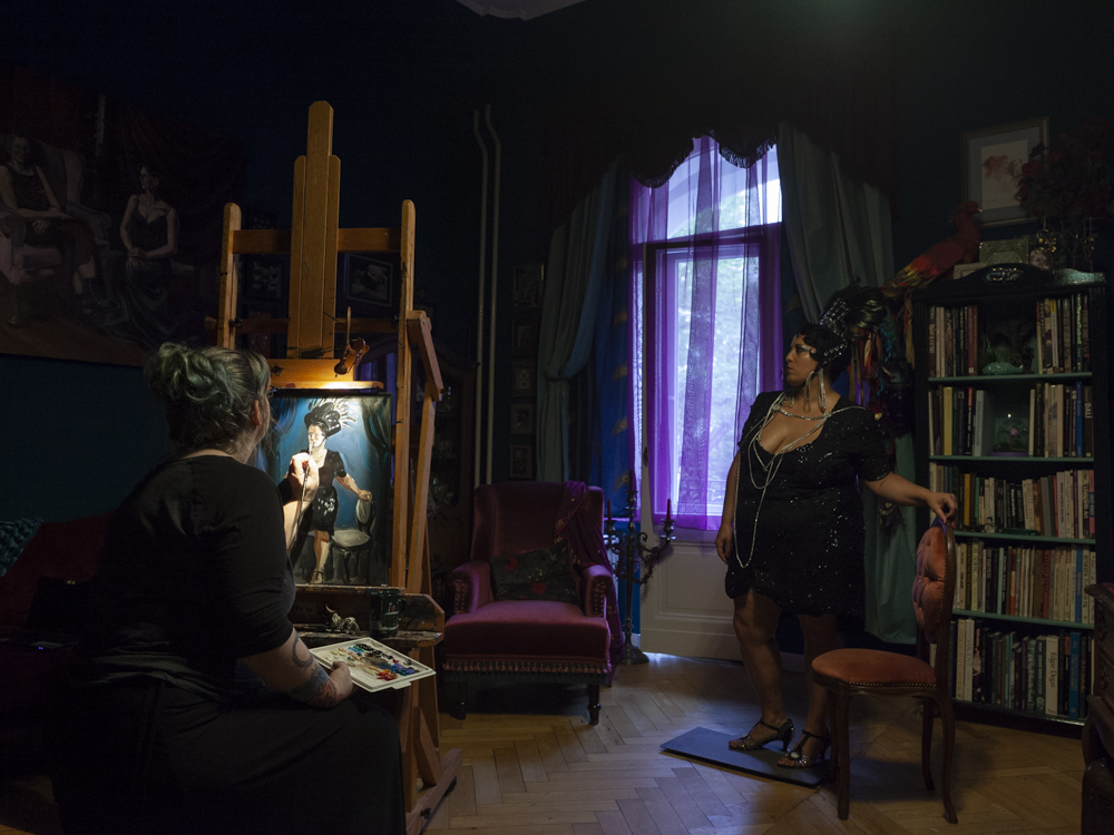 Suzanne Forbes painting Shakrah Yves photographed by Mirella Frangella June 2018 3