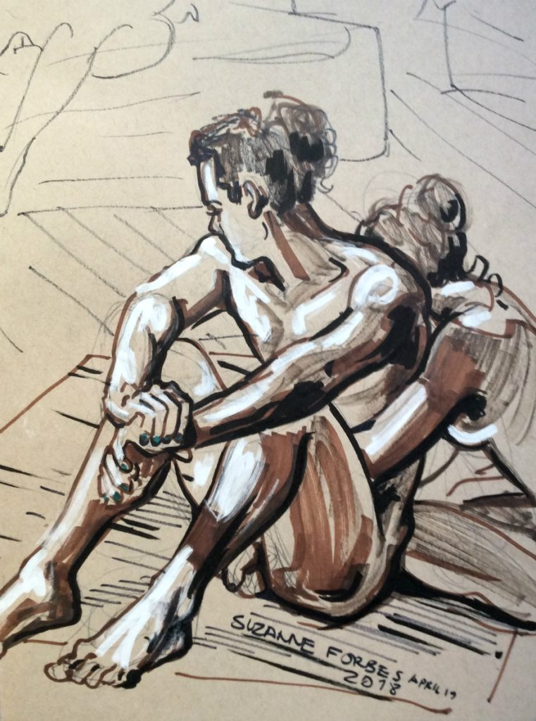 Life drawing 10 by Suzanne Forbes April 19 2018