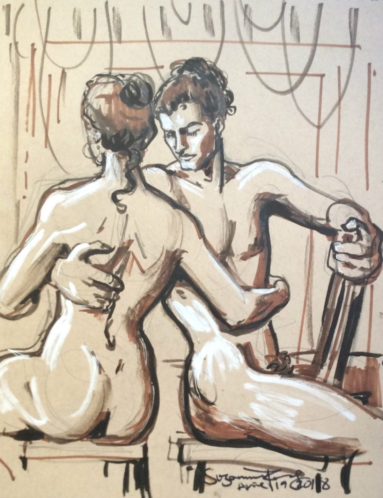 Life drawing 7 by Suzanne Forbes April 19 2018