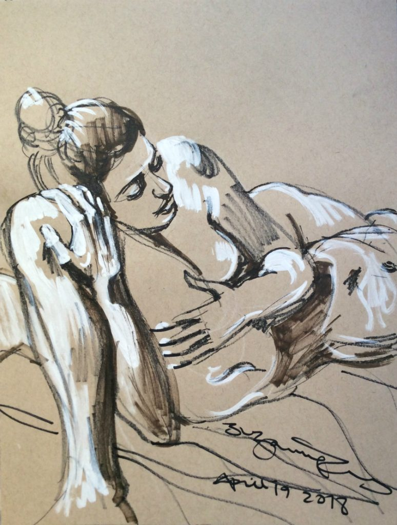 Life drawing 8 by Suzanne Forbes April 19 2018