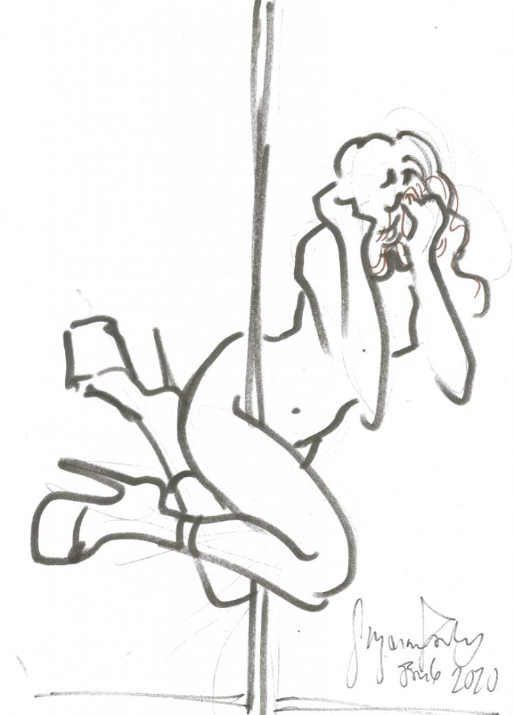 Maxine at Berlin Stripper Collective Life Drawing Jan 6 2020 by Suzanne Forbes 10